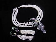 Super Set Of South Sea White Pearl Necklace Andearring