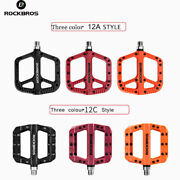 Rockbros Bicycle Pedal Road Bmx Mountain Bike Flat Pedals 9/16and039and039 Nylon Pedals