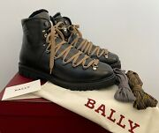 Bally Chack Black Leather Shearling-lined Hiking Boots Us 8.5 Andmdash Msrp 895