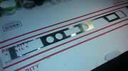 1967 Cadillac Dash Brushed Stainless Instrument Panel Trim Inlay Applique