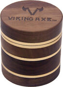 2.5and039and039 4 Piece Walnut Wood Metal Herbal Herb Spice Grinder Crusher Rose Gold W/bx