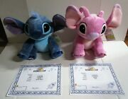 Build A Bear Disney Lilo And Stitch W/ 6 In 1 Sounds And Angel Plush Set Of 2 Nwt