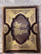 Rare1800's Holy Bible Bible Dictionary In Cities Of The Bible 1400 Illustrations