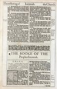 1611 King James Bible Leaf And039heand039 Bib Jer 1 Formed Thee In The Belly +gutenberg 1