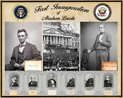 1st Inauguration Of Abraham Lincoln, Vp Hamlin And Cabinet Members Plus Signatures