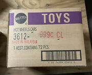Sealed Factory Case Of 72 Mattel Hot Wheels Cars 3612-999c Cl Malaysia Toys