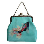 2way Epoche [black Goldfish] With P Pouch Original Print And Handmade Small Number