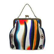 2way Epoche [evening Calm] P Pouch With Original Print And Handmade Small Number O