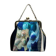 2way Epoche [blue Trace] P Pouch With Original Print And Handmade Small Number Of