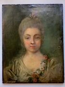 18th Century Old Master Oil Painting Portrait Young Lady Circle Vigee Lebrun