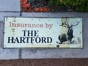 Large Hartford Insurance Metal Sign 60 X 24 No Idea What Year