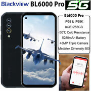 5g Blackview Bl6000 Pro Smartphone Waterproof Dual Sim Rugged Cell Phone 8+256gb