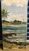 Hawaii Vintage Painting Signed Helen Mccallister. 30andrdquo X 15andrdquo. Rare