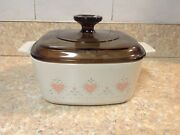 Corning Ware- Forever Yours - A- 1 1/2-b Casserole Dish W/ Pyrex A7c Lid