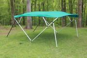 New Vortex Square Tube Frame 4 Bow Pontoon/deck Boat Bimini Top 10and039 Teal 97-103