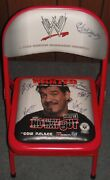 Wwf/wwe Eddie Guerrero Collectible Chair Rare Ppv No Way Out 2004 Hand Signed