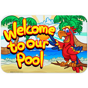 Welcome To Our Pool Sign Outdoor Pool Decor Sign