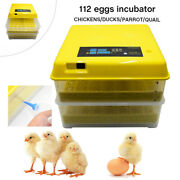 New 112eggs Bird Duck Incubator Digital Hatcher Fully Turning Automatic Hatching
