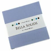 Bella Solids Baby Blue Moda Charm Pack By Moda Fabrics 42-5 Quilt Squares