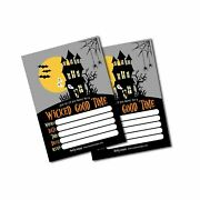 25 Haunted House Halloween Party Invitation Cards For Kids Adults, Vintage Bi...