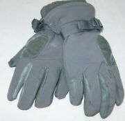 Us Army Usmc Green Cold Wet Weather High Quality Gloves Size Medium Made In Usa