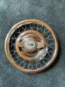 62 63 Chevrolet Corvair Chevy Ii Hubcap Wheel Cover Hub Cap 14 Wire F2a I6a Oem