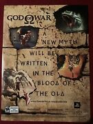 God Of War -the Game Xbox Ps Vintage 2005 Print Ad/poster Promo Art
