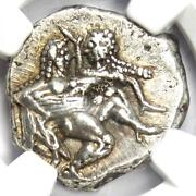 Thrace Thasos Ar Stater Coin 500-450 Bc Satyr And Nymph - Certified Ngc Au