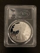 2020-w Proof 1 American Silver Eagle Wwii 75th V75 Pcgs Pr70dcam Fs V75 Label