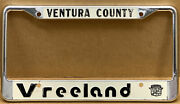 """Nos """"verry Early"""" Cadillac Vreeland""""venture County Ca.car License Plate Frame"""