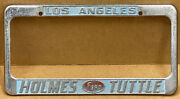 """Rare Ford """" Holmes Tuttle """" Los Angles Ca. 1960s Car License Plate Frame"""