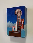 Jessica Hess Original Oil Painting Red Arrow Diner Manchester New Hampshire