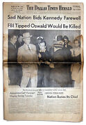 Dallas Times Herald Covering Lee Harvey Oswald's Death