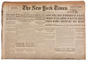 Japan Will Sign Surrender 21 August 1945 New York Times
