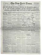 ''new York Times'' Newspaper From 20 April 1945