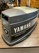 1988 Yamaha 40 Hp 3 Cyl 2 Stroke Outboard Hood Top Cowl Cover Freshwater Mn