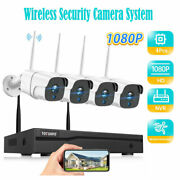 Home Wireless Security Camera System Outdoor 4pcs 1080p 8ch Wifi Nvr Nightvision