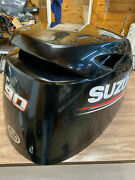 14 Suzuki Df 90 Hp 4 Stroke Outboard Engine Top Cowl Cover Hood Freshwater Mn