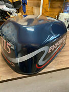 1998 Evinrude 115 Hp E Tec 2 Stroke Outboard Top Cowl Hood Cover Freshwater Mn