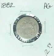 1882 Shield Nickel Ag Nice Coin For Someone's Collection