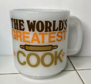 The World's Greatest Cook Coffee Cup Mug Number 1 Cook Vintage Glasbake