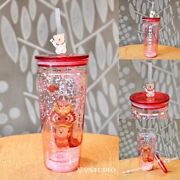Starbucks 2021 China Happy Ox Year Lion Dance Glitter 20oz Glass Cup Tumble Of 2