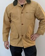 Mens Ll Bean Barn Jacket Coat Canvas Work Chore Field Flannel Lined Large Tall
