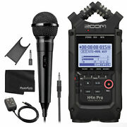 Zoom H4n Pro 4-input/4-track Portable Handy Recorder + Ac Adapter + Dynamic Mic