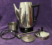 Vtg Presto Stainless Percolator Coffee Pot 0281105 - Looks Great - Works Great