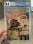 House Of Secrets 1/silver Age Dc/scarce Double Cover/cgc 6.0