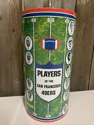 Vintage Very Rare 1971 Nfl San Francisco 49ers Trash Can By Cheinco