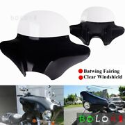 Batwing Fairing Windshield Wind Deflectors For Harley Touring Road King Fat Boy