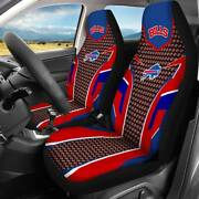 Usa Buffalo Bills Front Car Seat Covers 2pcs Universal Fit Auto Seat Protector
