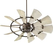 Quorum Lighting 95210-86 Windmill - Ceiling Fan In Transitional Style - 52